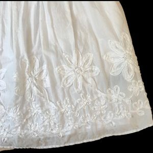AGB White Sundress with ribbon floral detail Sz 8